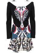 Peter Pilotto Cutout Embroidered Silk-Gauze Dress - Lyst
