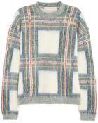 Stella McCartney Plaid-intarsia Knitted Sweater - Lyst