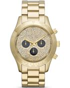 Michael Kors Midsize Gold Tone Layton Chronograph Glitz Watch 435mm - Lyst