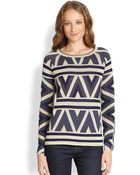 BCBGMAXAZRIA Silk Cotton Sweater - Lyst