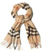 Burberry Checked Scarf - Lyst