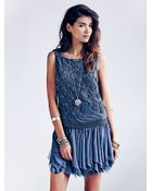 Free People Samantha Embellished Dress - Lyst
