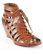 Material Girl Halter Laceup Wedge Sandals - Lyst