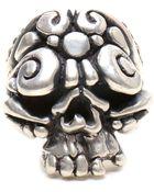 Duffy Sterling Silver Ornate Skull Ring - Lyst
