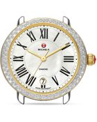Michele Serein 16 Two-Tone Diamond Watch Head, 36Mm - Lyst