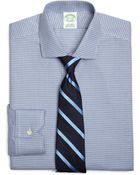Brooks Brothers Supima Cotton Noniron Extra-slim Fit Spread Collar Twill Houndstooth Check Luxury Dress Shirt - Lyst