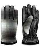 Zara Combination Leatherfaux Suede Gloves - Lyst