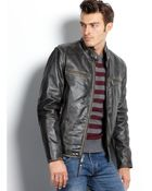 Marc New York Ryder Distressed Calf Leather Moto Jacket - Lyst