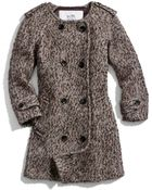 Coach Wool Double Breasted Coat - Lyst