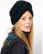 Asos Asos Knitted Turban Hat - Lyst