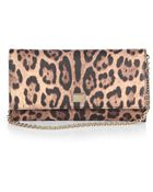 Dolce & Gabbana Leopard-Print Coated Canvas Chain Wallet - Lyst