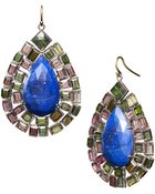 Nak Armstrong Green And Pink Tourmaline And Lapis Drop Earrings - Lyst