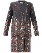 Preen By Thornton Bregazzi Wixon Tartan Leopardprint Coat - Lyst