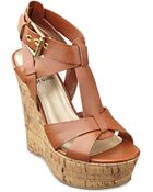 G by Guess Entry Platform Wedge Sandals - Lyst