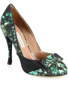 Tabitha Simmons Frida Ivyprint Satin Pumps - Lyst