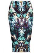Topshop Moth Tube Skirt - Lyst