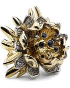 Roberto Cavalli Flower Ring with Swarovski Crystals - Lyst