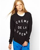 Zoe Karssen Creme De La Creme Sweatshirt - Lyst