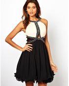 Little Mistress Skater Dress with Embellished Trim - Lyst