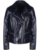 Victoria Beckham Joan Leather Moto Jacket - Lyst