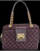 Moschino Quilted Goffrato Bowling Bag - Lyst