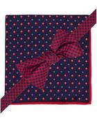 Tommy Hilfiger Gingham Bow Tie and Neat Pocket Square Set - Lyst