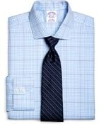 Brooks Brothers Supima Cotton Noniron Regular Fit Spread Collar Twill Glen Plaid Luxury Dress Shirt - Lyst