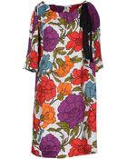 Rose' A Pois Short Dress - Lyst