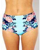 Seafolly Bella Rose Mirror Print High Waisted Bikini Bottom - Lyst