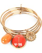 Tory Burch Winslow 16ct Goldplated Charm Bracelet - Lyst