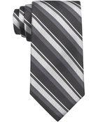 Calvin Klein Silk Silver Spun Stripe Tie - Lyst