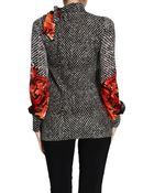Roberto Cavalli Sweater Cachemire Silk Print Tilda Print - Lyst