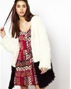 MINKPINK Colour Block Coat in Faux Fur - Lyst
