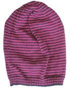 Hortensia Handmade Jay Beanie Stripes: Magenta/Navy - Lyst