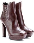 Bottega Veneta Leather Ankle Boots - Lyst