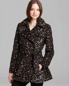 Via Spiga Coat Double Breasted Leopard Print - Lyst