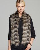 Guess Vest Faux Fur - Lyst