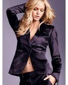 Victoria's Secret Velvet Onebutton Jacket - Lyst