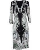 Roberto Cavalli Kneelength Dress - Lyst