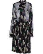 D&G Long Sleeve Chiffon Knee Length Dress - Lyst