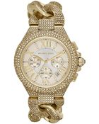 Michael Kors Ladies' Camille Glitz Watch With Interwoven Strap - Lyst