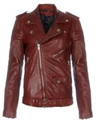 BLK DNM Crimson Leather Motorcycle Jacket 8 - Lyst