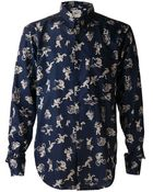 Naked & Famous Wood Land Creature Print Shirt - Lyst