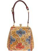 Dolce & Gabbana Mosaic Print Frame Clutch - Lyst