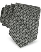 Moschino Narrow Signature Silk Tie - Lyst