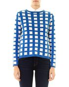 Chinti & Parker Exclusive Grid Cashmere Sweater - Lyst