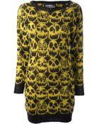 Jeremy Scott Skull Print Dress - Lyst