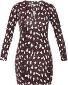 Diane von Furstenberg Fbii Reina Long sleeved  Dress - Lyst