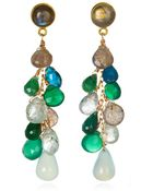 Wendy Mink Multi-Stone Drop Earrings - Lyst