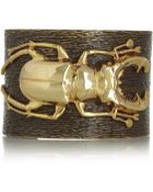 Iam By Ileana Makri Beetle Goldplated Oxidized Brass Cuff - Lyst